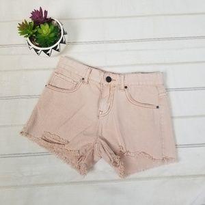 Anthropologie BDG pink short raw hem size 24W -C9